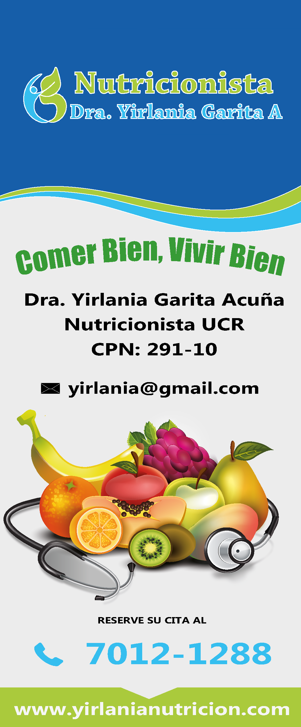 Dra Yirlania Garita A - Nutricionista